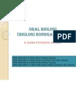 Ruang Lingkup Oral Biologi