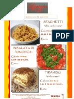 Spaghetti Alla Carbonara, e Dolce Tiramisu Con Calorie