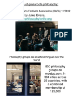 Rise of Grassroots Philosophy