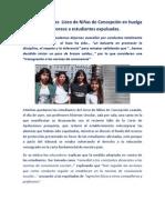 Docentes  Liceo de Niñas de Concepción en huelga por fallo que favorece a estudiantes expulsadas.