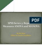 SPSS Series 3 Repeated Measure ANOVA and MANOVA PDF