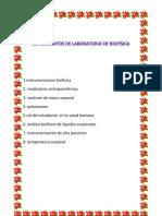 EXPERIMENTOS DE LABORATORIO DE BIOFÍSICA