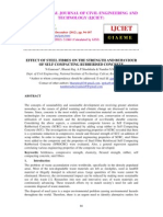 Effect of Steel Fibres on the Strength and Behaviour of Self Compacting Rubberised Concrete