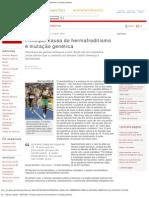 G1 _ Ciência e Saúde - NOTÍCIAS - Principal causa do hermafroditismo é mutaç