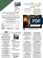 Springfield@Roundshaw News Sheet