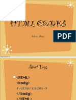 HTML codes chapter#1