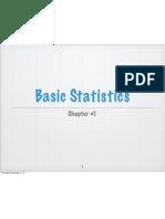 Basic Statistics Chapter#1