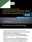 Flushing Korean American Voter Survey Results