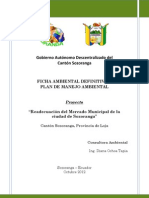Ficha Ambiental y PM MERCADO SOZORANGA FINAL Entregado Octubre 2012
