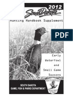 2012 South Dakota Hunting Hand Book Supplement