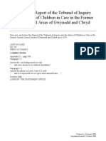 Lost in Care - Report of the Tribunal of Inquiry into the Abuse of Children in Care in the Former County Council Areas of Gwynedd and Clwyd since 1974