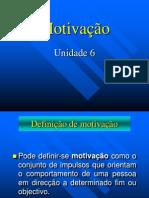 Unidade 6 - Motivação