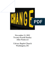 Bulletin, Sunday, November 11, 2012