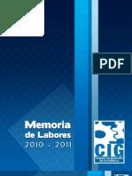 Memoria de Labores 2010 - 2011 CIG
