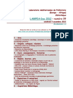 LAMPEA-Doc 2012 - numéro 39 / vendredi 9 novembre 2012