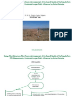 Study of the Behaviour of the Rover and Assessment of the Overall Quality of the Results from RTK Measurements, Conducted in open-Field - Influenced by Active Disturber