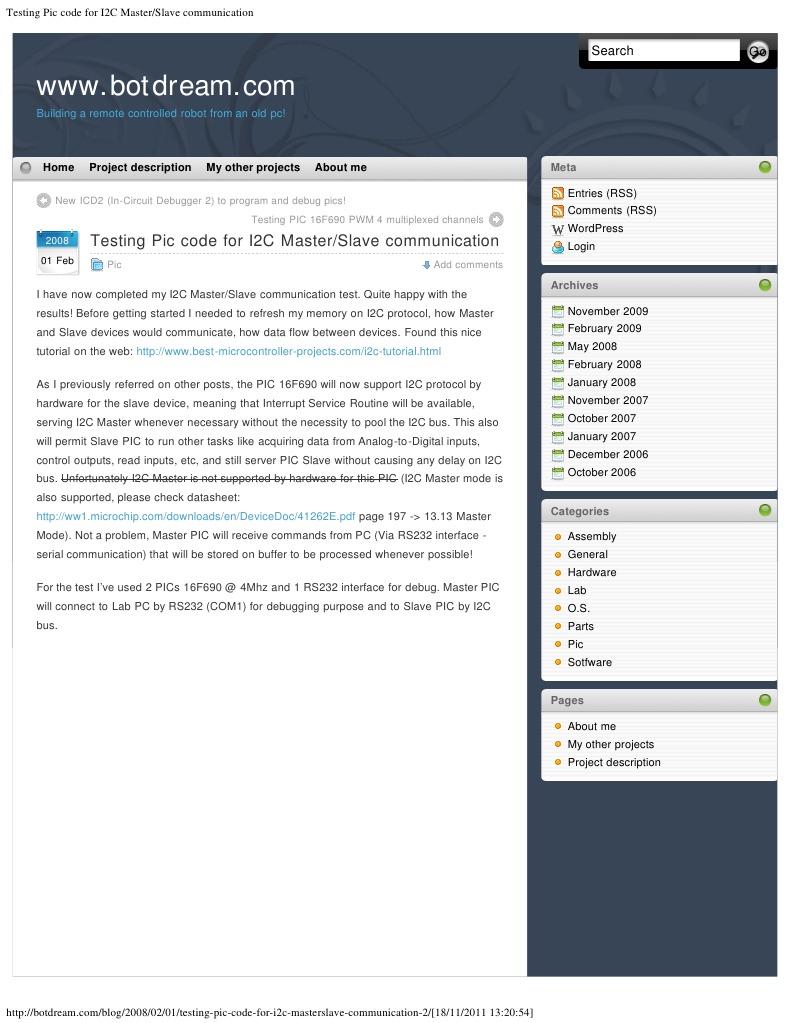 Testing Pic Code for I2C Master_Slave Communication | Pic
