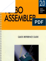 Turbo Assembler 2.0 Quick Reference 1990