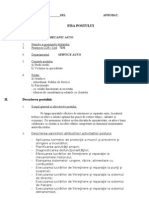 Fisa Post Mecanic Auto Service _model