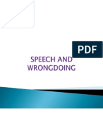 Speech and Wrong Doing