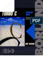 Turbo C Reference Guide 1987