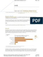 Understanding Supply Chain Risk, A McKinsey Global Survey
