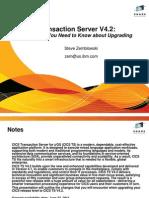 Upgrading to CICS TS V4.2
