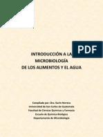 INTRODUCCIÓN A LA MICROBIOLOGÍA DE ALIMENTOS Y AGUA 1