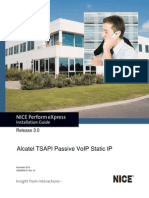 Alcatel TSAPI Passive VoIP Static IP Installation Guide - NPX - 3.0