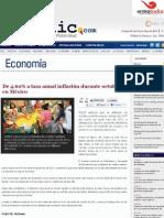 09-11-12 De 4.60% a tasa anual inflación durante octubre en México