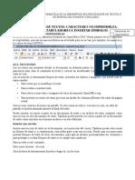 SECCIONES E INSERTAR SÍMBOLOS en OpenOffice.org Writer