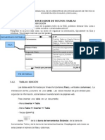 Tablas Otros formatos en OpenOffice.org Writer