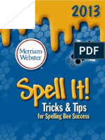 2013 Spell It workbook