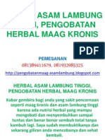 Herbal Asam Lambung Tinggi, Pengobatan Herbal Maag Kronis