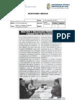 Informe de prensa semana del 01 al 09 de noviembre de 2012