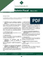 Boletin Fiscal Marzo 2012