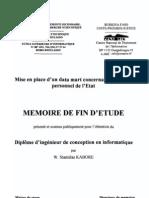 Memoire Mise en Place d'Un Data Mart Concernant La Paie Du