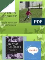 Increasing Life Happiness