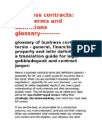 Business Contract Glossary