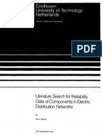 Literature Search for Reliability Data of Components in Electric Distribution Networks