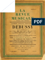 DEBUSSY, Claude • La Revue Musicale. 1ère année, numéro 2. Numéro spécial consacré à Debussy (Éditions de la Nouvelle Revue Française, Paris, 1er décembre 1920) (facsimile music source)