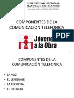1.3 COMPONENTES DE LA COMUNICACIÓN TELEFONICA