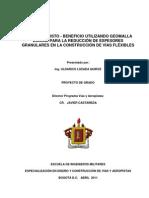 Relación Costo-Beneficio _Geomalla Biaxial