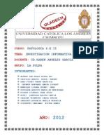 CASO CLINICO DE PATOLOGÍA DEL S. E.  TAREA 2