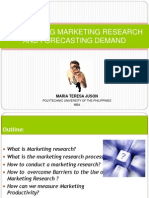 Conducting Marketing Research and Forecasting Demand (1)
