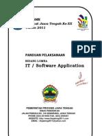 Pedoman Pelaksanaan LKS IT Software Application Jateng 2011