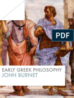 Early Greek Philosophy