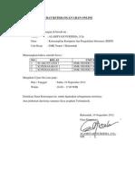 Surat Keterangan Ujian Online