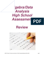 HSA Algebra Review