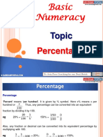 Basic Numeracy Percentage